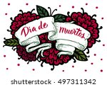day of the dead vector card.... | Shutterstock .eps vector #497311342