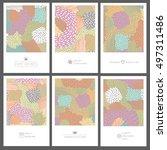 set of creative invitation... | Shutterstock .eps vector #497311486