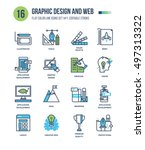 modern thin line icons set of... | Shutterstock .eps vector #497313322