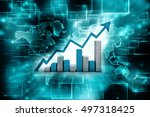 business graph with rising up... | Shutterstock . vector #497318425