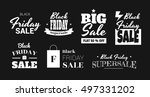stickers are on sale black... | Shutterstock .eps vector #497331202