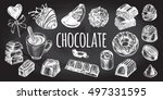 hand drawn set of different... | Shutterstock .eps vector #497331595