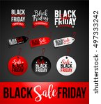 creative black friday sale... | Shutterstock .eps vector #497333242