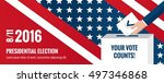presidential election banner... | Shutterstock .eps vector #497346868