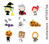 illustration for halloween day. ... | Shutterstock .eps vector #497355766
