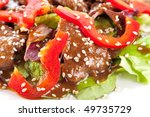 stewed meat with pepper ... | Shutterstock . vector #49735729