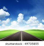 road and sunny day | Shutterstock . vector #49735855