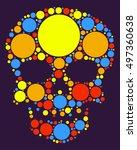 skull shape vector design by...   Shutterstock .eps vector #497360638