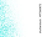 blue random dots background ... | Shutterstock .eps vector #497360872