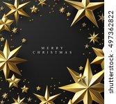 christmas background made of... | Shutterstock .eps vector #497362822