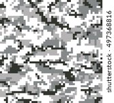 digital seamless camouflage... | Shutterstock .eps vector #497368816