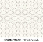seamless geometric line pattern ... | Shutterstock .eps vector #497372866