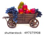 Wooden Old Cart Filled With...