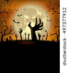 halloween background for a... | Shutterstock .eps vector #497377912