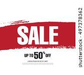 sale banner template design | Shutterstock .eps vector #497378362