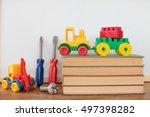back to school concept  colored ... | Shutterstock . vector #497398282