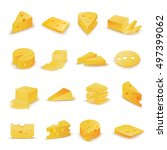 cheese icons set   isolated on... | Shutterstock .eps vector #497399062