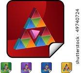 pink triangle | Shutterstock . vector #49740724