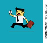 businessman running urgently... | Shutterstock .eps vector #497408212