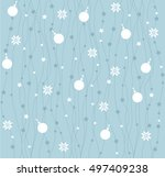 seamless pattern with white... | Shutterstock .eps vector #497409238