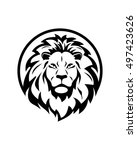 lion group abstract vector | Shutterstock .eps vector #497423626