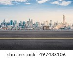 3d rendering roadside with... | Shutterstock . vector #497433106