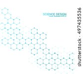 hexagonal molecule. molecular... | Shutterstock .eps vector #497435536