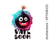 logo vape boom. label  emblem... | Shutterstock .eps vector #497438152