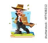 detective character design... | Shutterstock .eps vector #497438212