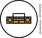 tape recorder icon. | Shutterstock .eps vector #497439292