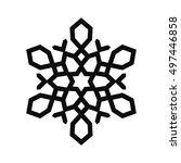 snowflake vector icon for... | Shutterstock .eps vector #497446858