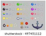 miscellaneous items game... | Shutterstock .eps vector #497451112