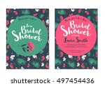 bridal shower luau invitation... | Shutterstock .eps vector #497454436