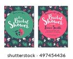 bridal shower luau invitation...   Shutterstock .eps vector #497454436