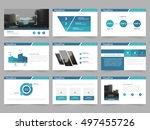 blue abstract presentation... | Shutterstock .eps vector #497455726
