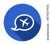 aircraft icon. flat design. | Shutterstock .eps vector #497457955