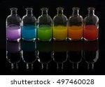 apothecary  laboratory bottles... | Shutterstock . vector #497460028