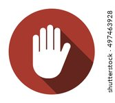 hand icon  vector. flat design. | Shutterstock .eps vector #497463928