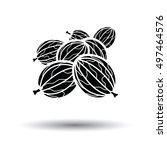 gooseberry icon. white... | Shutterstock .eps vector #497464576