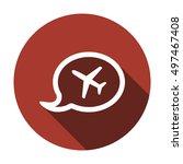 aircraft icon. flat design. | Shutterstock .eps vector #497467408