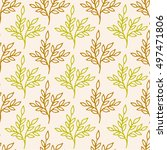 autumn seamless floral pattern. ... | Shutterstock .eps vector #497471806