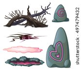 A Set Of Geological Objects An...