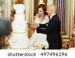 Magnetic Bride Cuts Wedding...