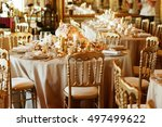 perfect classy chairs stand at... | Shutterstock . vector #497499622