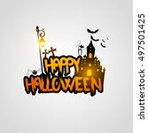 halloween vector design with... | Shutterstock .eps vector #497501425