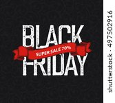 black friday poster | Shutterstock .eps vector #497502916