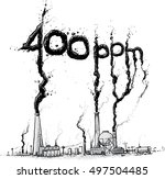 a cartoon showing factories and ...   Shutterstock .eps vector #497504485