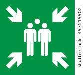 emergency evacuation assembly... | Shutterstock .eps vector #497519902