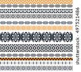tribal seamless pattern....   Shutterstock .eps vector #497521486