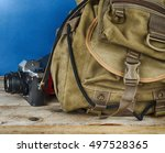 Old Travel Backpack  And Camera ...